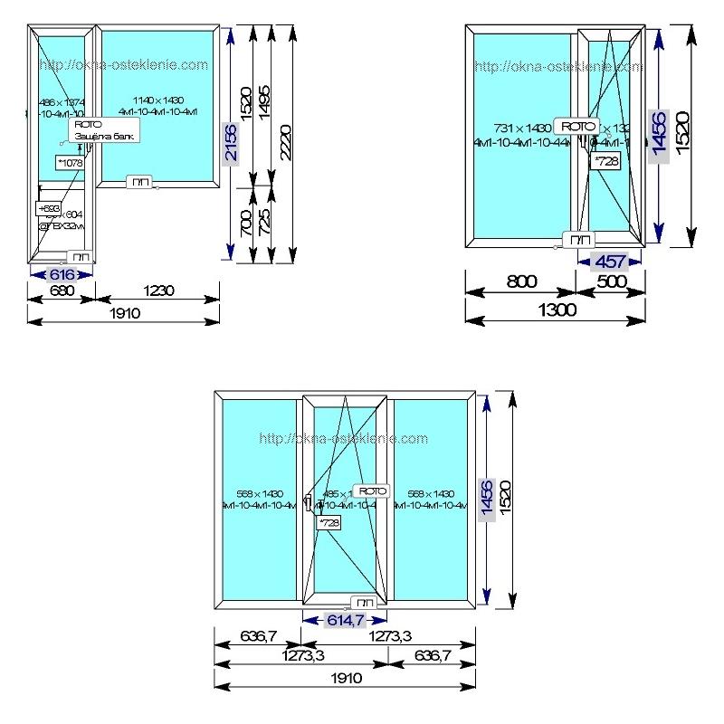 Размеры пластиковых окон пвх в доме п-49 серии с ценам.